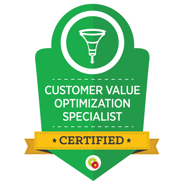 Digital Marketer Certified Customer Value Optimization Specialist