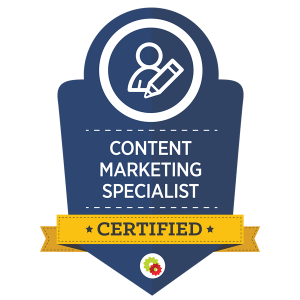 Digital Marketer Certified Content Marketing Specialist
