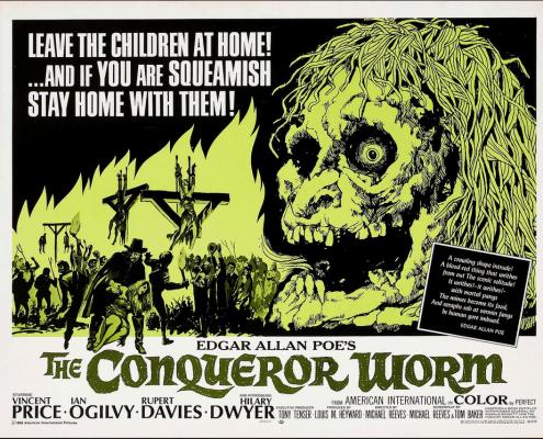 The Conqueror Worm Horror Film Poster Copywriting