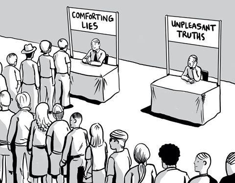 Unpleasant Truths vs Convenient Lies in Copywriting