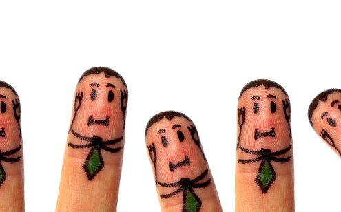 Finger men covering ears - Copywriting mistakes in Tech and Software Sales
